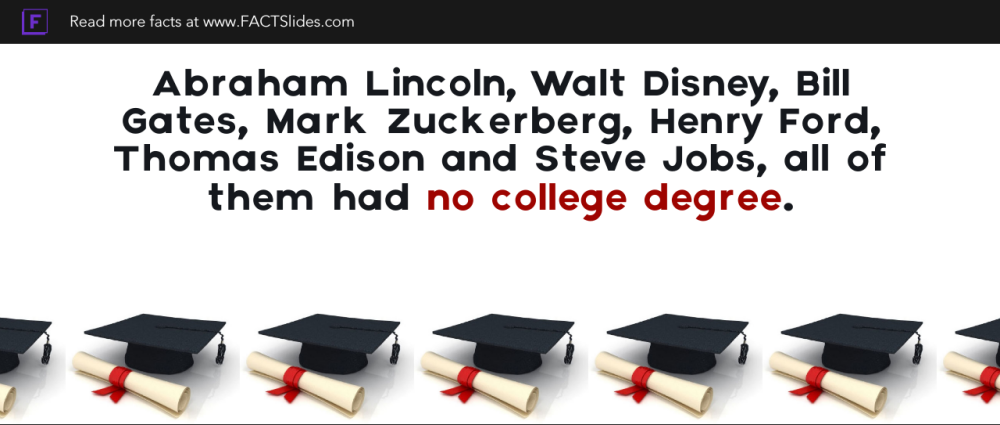 Abraham Lincoln, Walt Disney, Bill Gates, Mark Zuckerberg, Henry ...